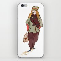 Girl And A Tuque iPhone & iPod Skin