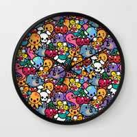 Sea Pattern 02 Wall Clock