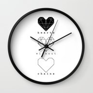Hearts Without Chains  Wall Clock