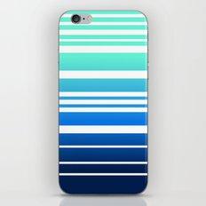 Bay Ombre Stripe: Mint Navy iPhone & iPod Skin