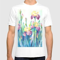 Irises Mens Fitted Tee White SMALL