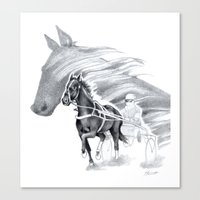 Trotting Up A Storm Canvas Print