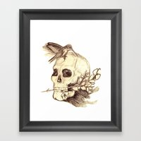 Flying Away With The Tim… Framed Art Print