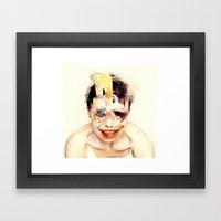 The Butcher  By Zabu Stewart Framed Art Print