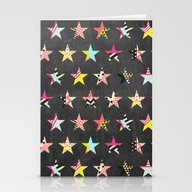 Dancing Stars Stationery Cards