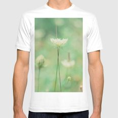 Green  White SMALL Mens Fitted Tee