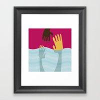 Help me Framed Art Print