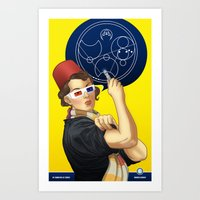 Whovian feminism Art Print