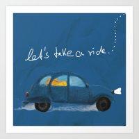 let's take a ride.. Art Print