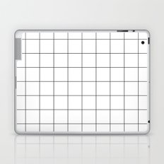 White Grid  /// www.pencilmeinstationery.com Laptop & iPad Skin