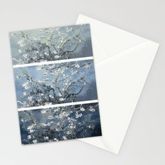 Vincent Van Gogh : Almond Blossoms Panel Art Blue Teal Stationery Cards