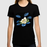 Magnolia Womens Fitted Tee Black SMALL