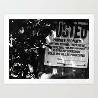 Trespassing Art Print