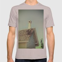 Summer cottage gable roof Mens Fitted Tee Cinder SMALL