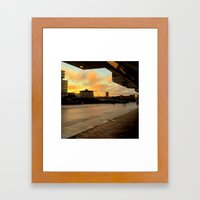 The City Terminal Framed Art Print