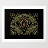 Abstract Tapestry Art. Sage. Art Print