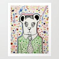 Bear Collaboration Art Print