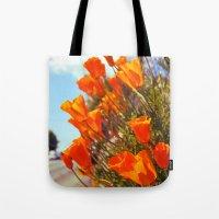 Roadside Poppies Tote Bag