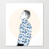 Inked #3 Canvas Print