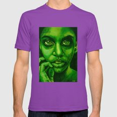 don't panic! green Mens Fitted Tee Ultraviolet SMALL