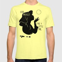 Even Miracles Take a Little Time Mens Fitted Tee Lemon SMALL