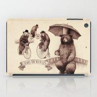 Bears On Bicycles iPad Case