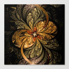 Shining Leaves Fractal Art Canvas Print