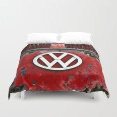 VW Retro Red Duvet Cover