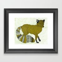 Gold Fox Framed Art Print