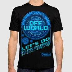 Off World Black Mens Fitted Tee SMALL