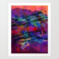 Pixel Splatter Art Print