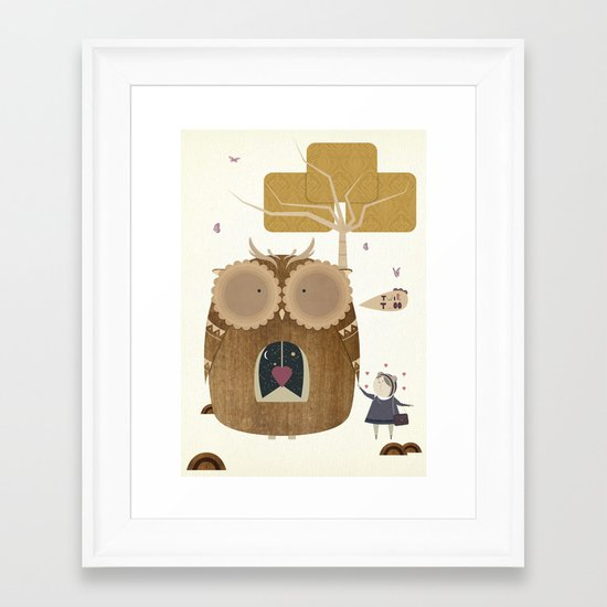 My Owl and Me Framed Art Print