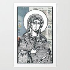 Madonna of Today's Horoscope Art Print