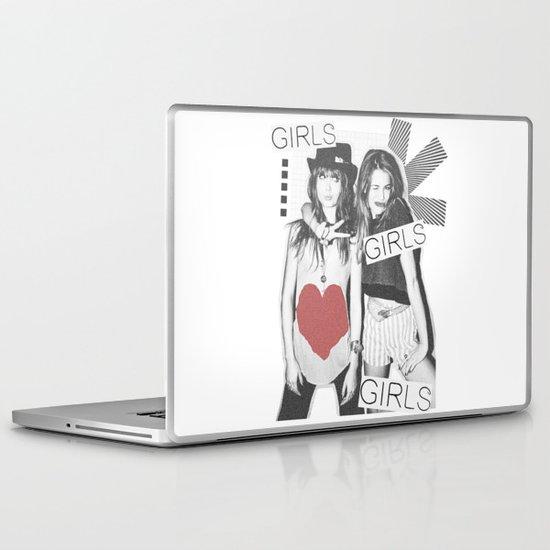 GIRLS GIRLS GIRLS Laptop & iPad Skin