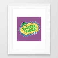 Yo Gamma Gamma!  Framed Art Print