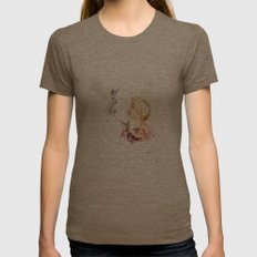 Snow White Womens Fitted Tee Tri-Coffee SMALL