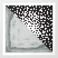 waves/grid #6 Art Print