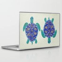 turtle Laptop & iPad Skins featuring Sea Turtle by Cat Coquillette
