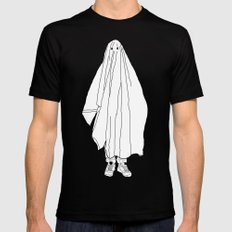 Ghosts 1 / Black Mens Fitted Tee Black SMALL