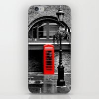 Red Phone Box iPhone & iPod Skin