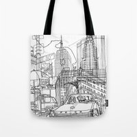 New York! B&W Tote Bag