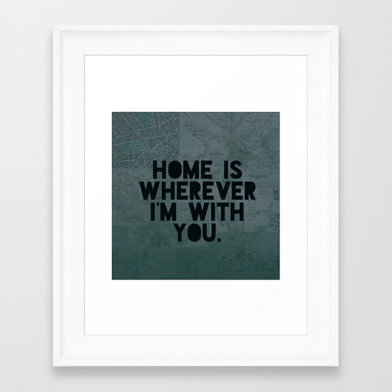 With You II Framed Art Print
