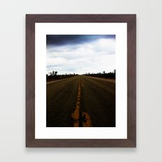 Deserted Road Framed Art Print