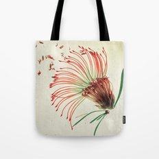 Nodding Pincushion Botanical Blueprints Tote Bag