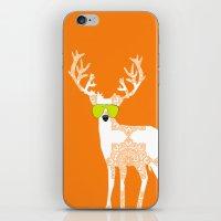 Orange Reindeer Art iPhone & iPod Skin
