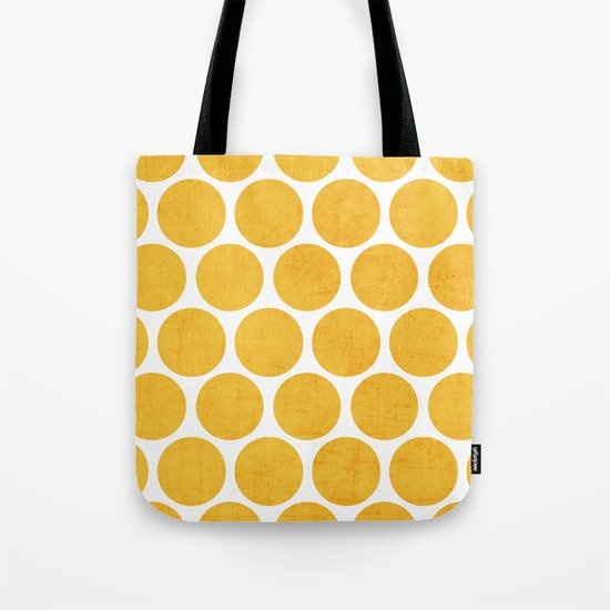 yellow polka dots Tote Bag