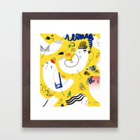 Quietly quietly Framed Art Print