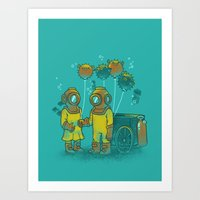 The BalloonFish Vendor Art Print