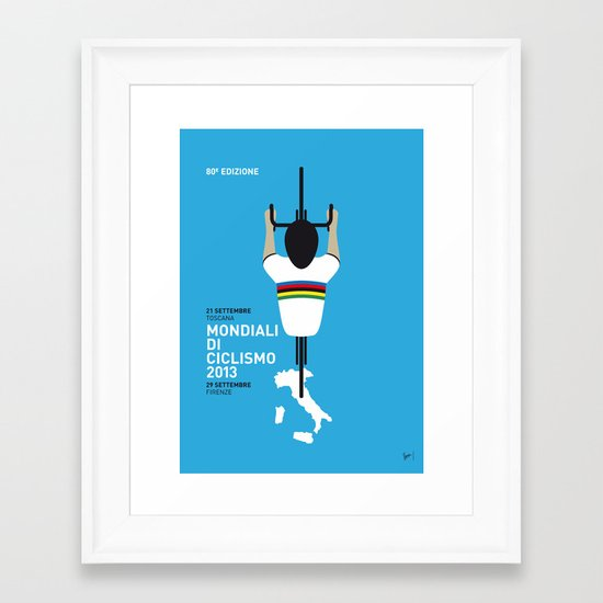 MY Mondiali di Ciclismo MINIMAL POSTER - 2013 Framed Art Print