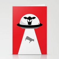 Space Cows Stationery Cards